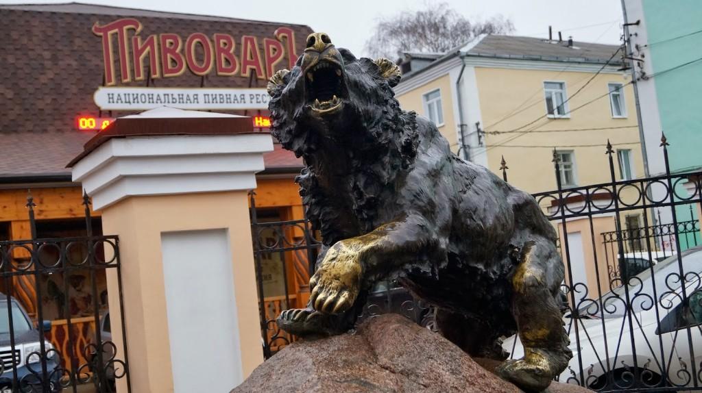 Памятник медведю, Ярославль
