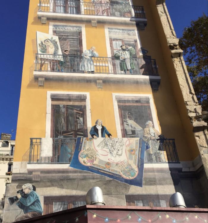 Фреска «Стена ткачей»