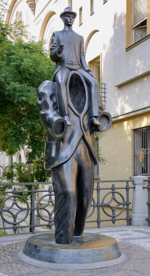 Скульптура Франца Кафки